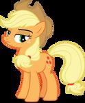 Applejack annoyed (Vector) by Chrzanek97