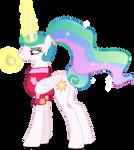 Princess Celestia with watch (Vector)