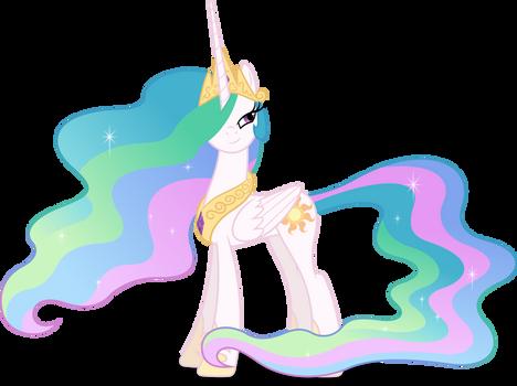 Princess Celestia with alluring glance (Vector)