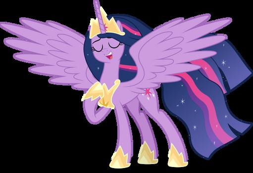Princess Twilight singing (Vector)