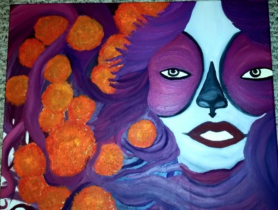 Sugar Skull Marigold Queen by Caylyngasm