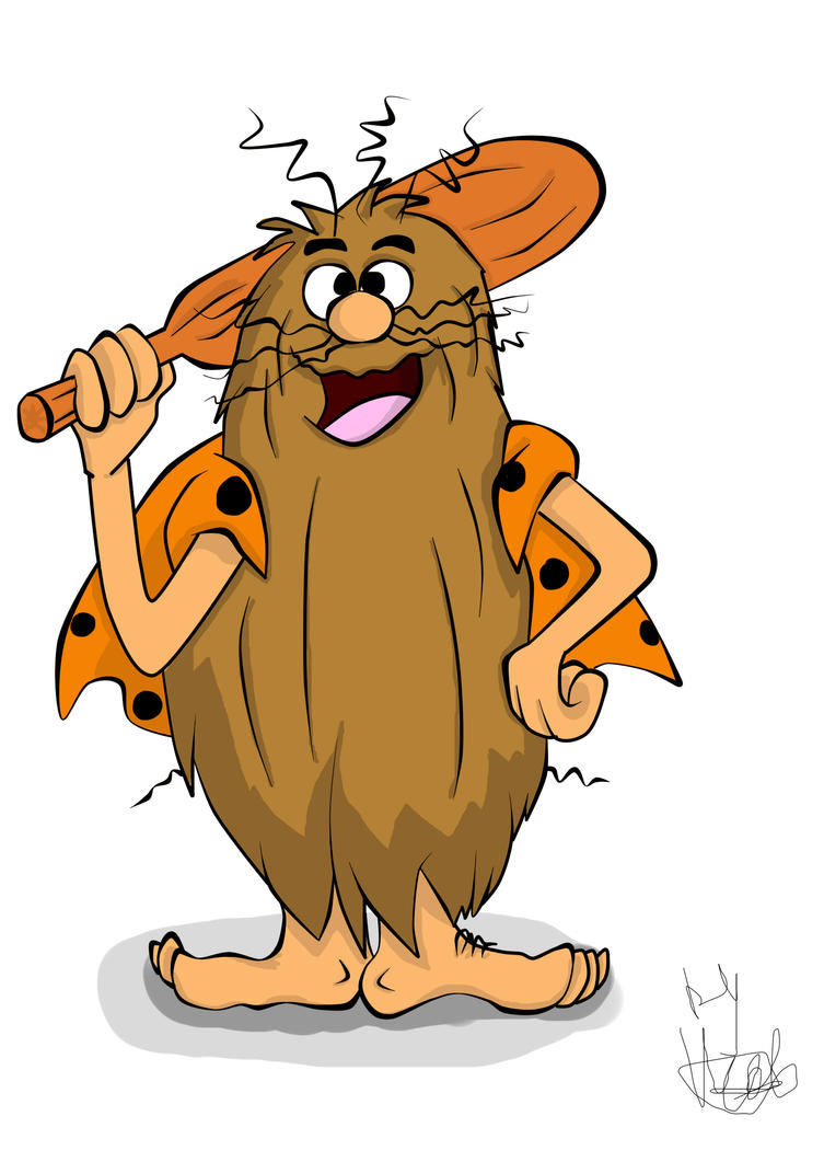 Caveman Artist : Cartoon fan art captain caveman by victorycabbage on