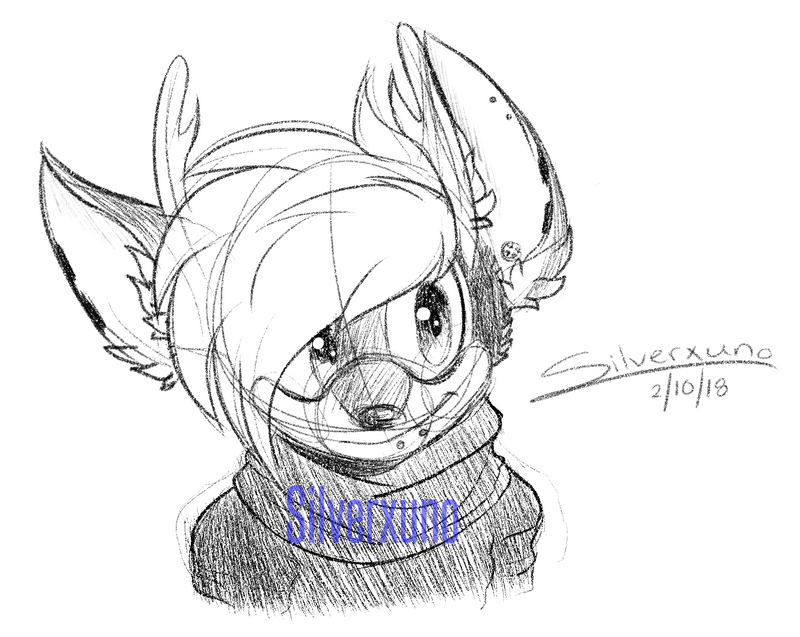 Bust Sketch Commission - StarletKei by Silverxuno