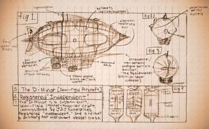 D-Minor Airship Blueprints by videolizzard99
