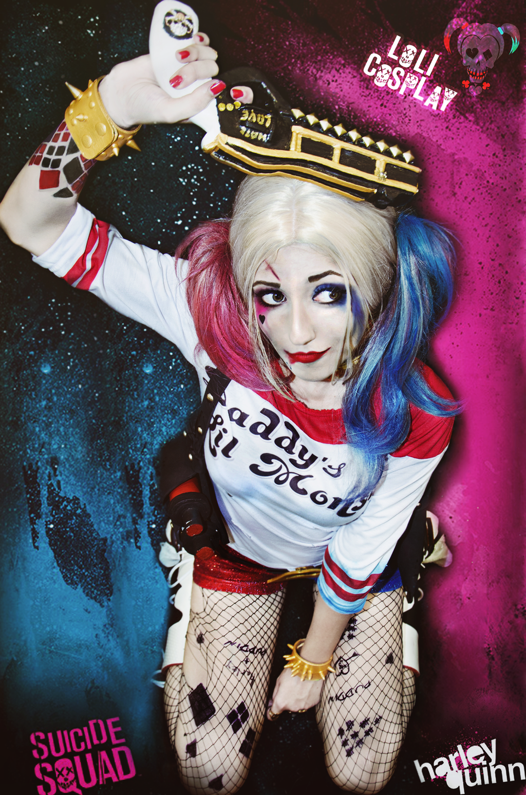 Harley Quinn - Suicide Squad (Cosplay) by Lolipuny on DeviantArt Joker Smile Png