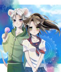 [AT] Neko-chan and Misuto by Kaiba-Loves-Samara