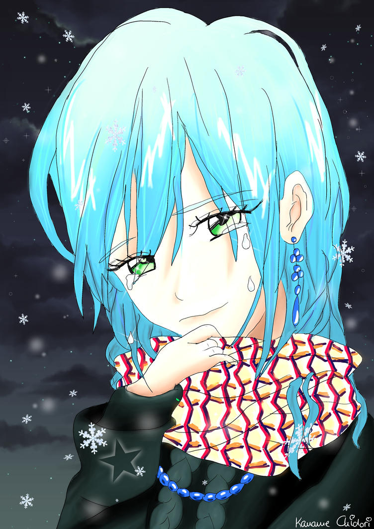 Anime Lonely Winter Sad girl In a lonely w...