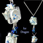 Ice Crystal Dragon necklace by LittleCLUUs