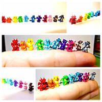 Micro Dragon Rainbow by LittleCLUUs