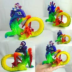 Tropical Rainbow Dragon by LittleCLUUs