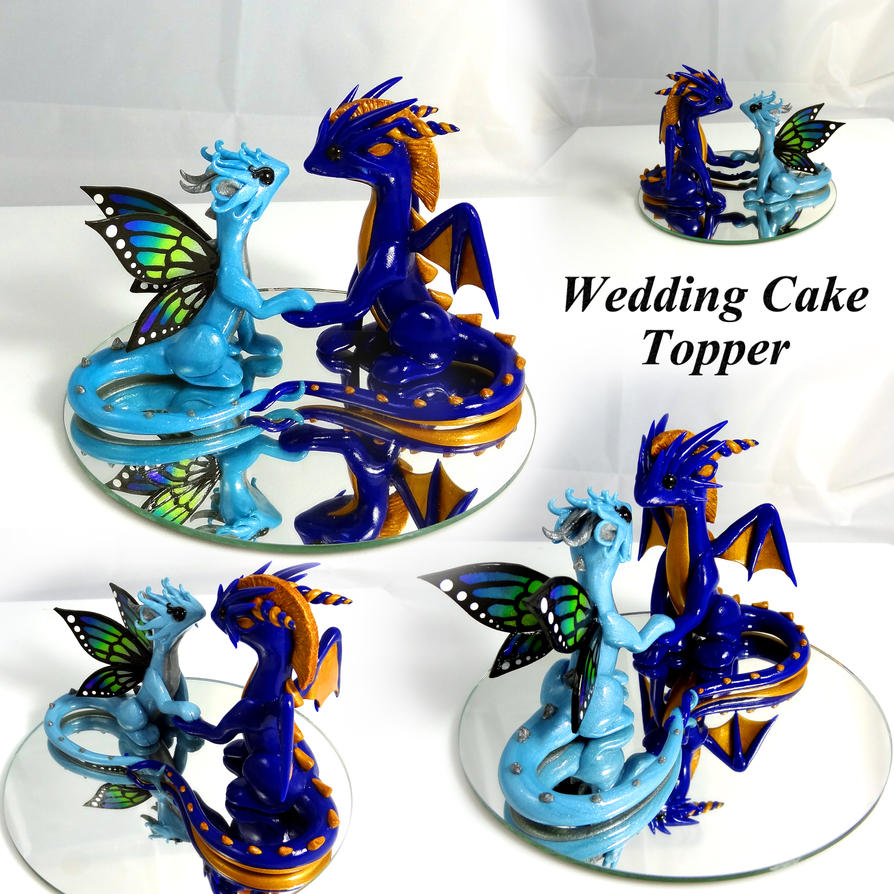 wedding cake dragon custom wedding cake topper by littlecluus on deviantart 22547