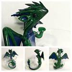 Antiqued Dragon candle holder