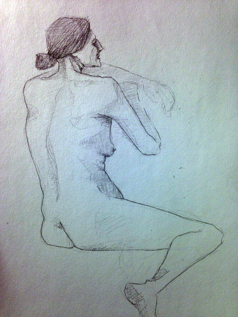 Nude Sketch by ThePossessedPuppet