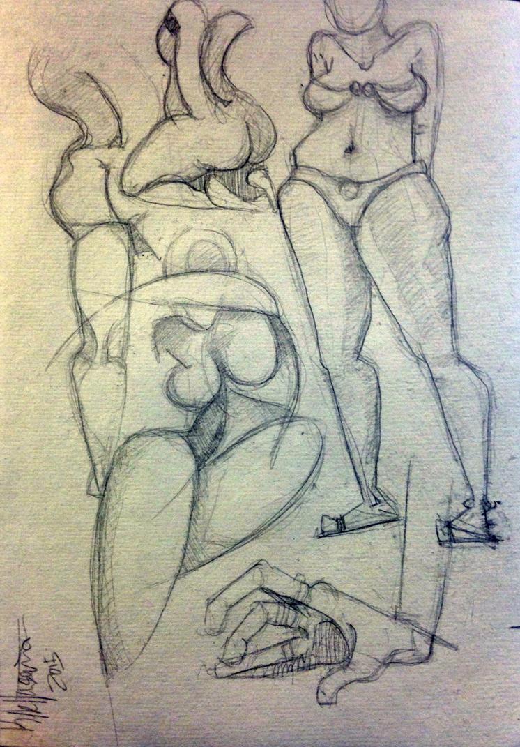 Ladies Sketch by ThePossessedPuppet