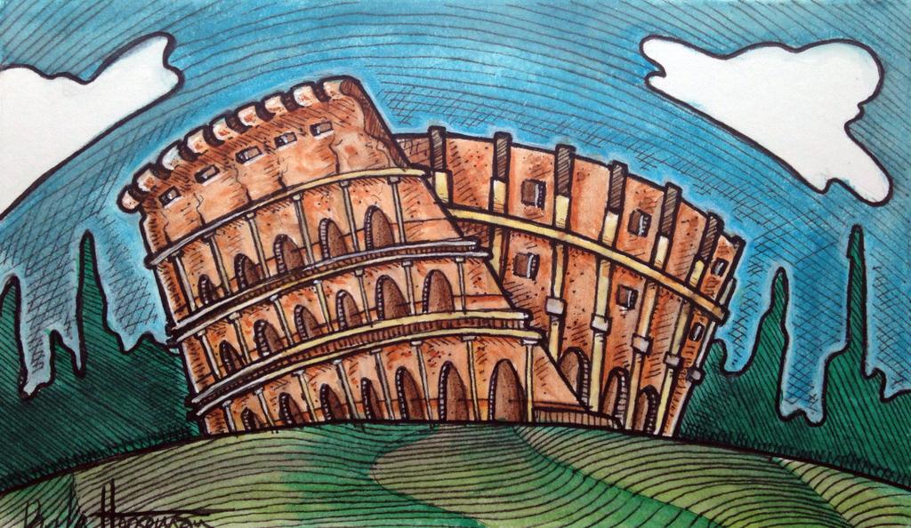 Coliseum Gift by ThePossessedPuppet