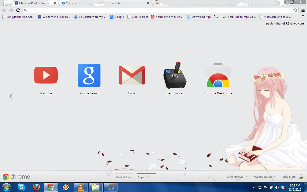 Google chrome themes yaoi - Chrome Theme Vocaloid Megurine Just Be Friends By Isaika15