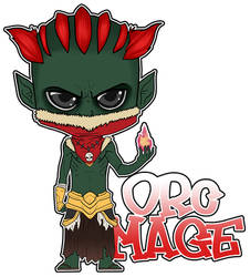 -Chibi Orc Mage- by nuke-no-jutsu