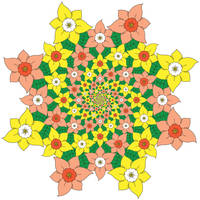 Spiraling Flowers by RFat