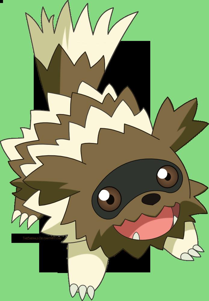 free zigzagoon pokemon vector by emeraldstock on deviantart