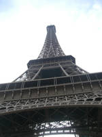 Eiffel Tower from below by Darkfaceintheclouds