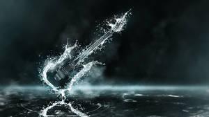 Exploding Water Guitar Wallpaper