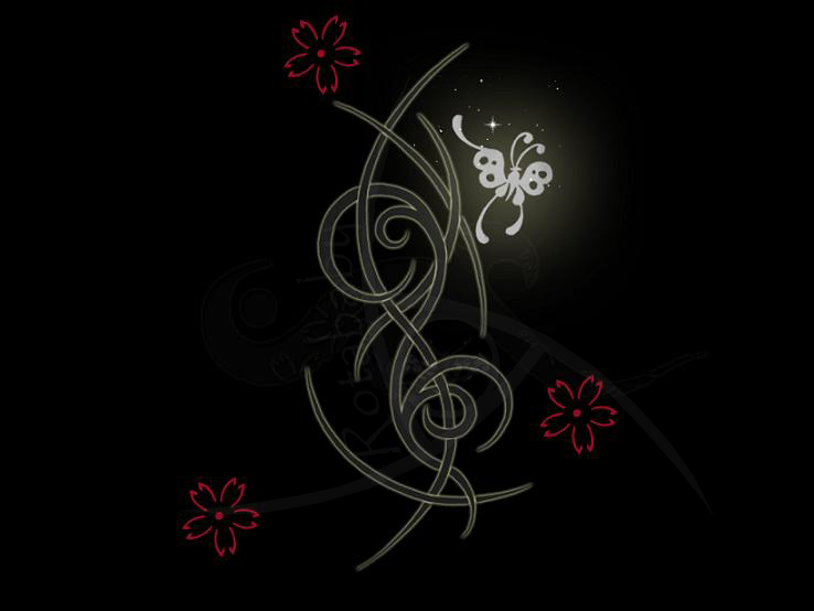 tattoo brushes - flower tattoo