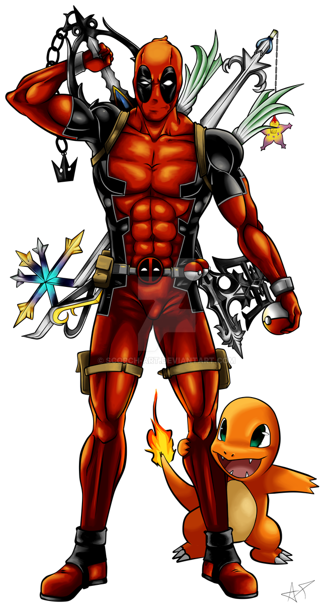 Deadpool Tattoo Design Commission by Scorch-Art