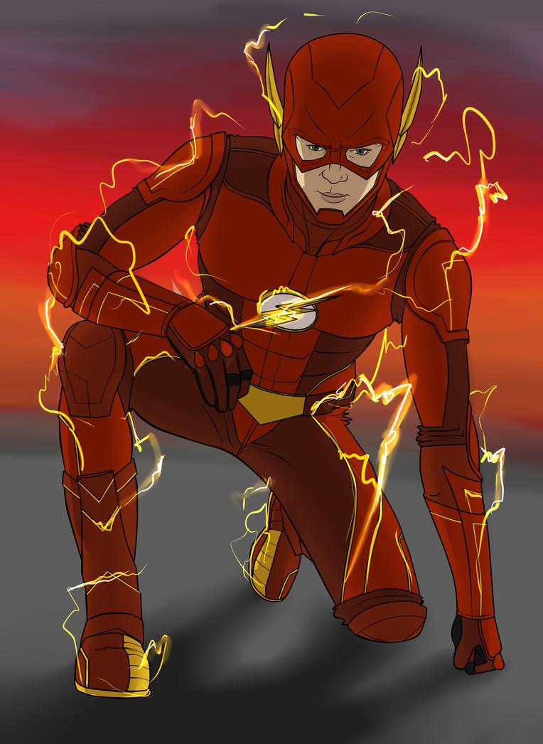 Costume design idea for Flash (tv show) by Scorch-Art