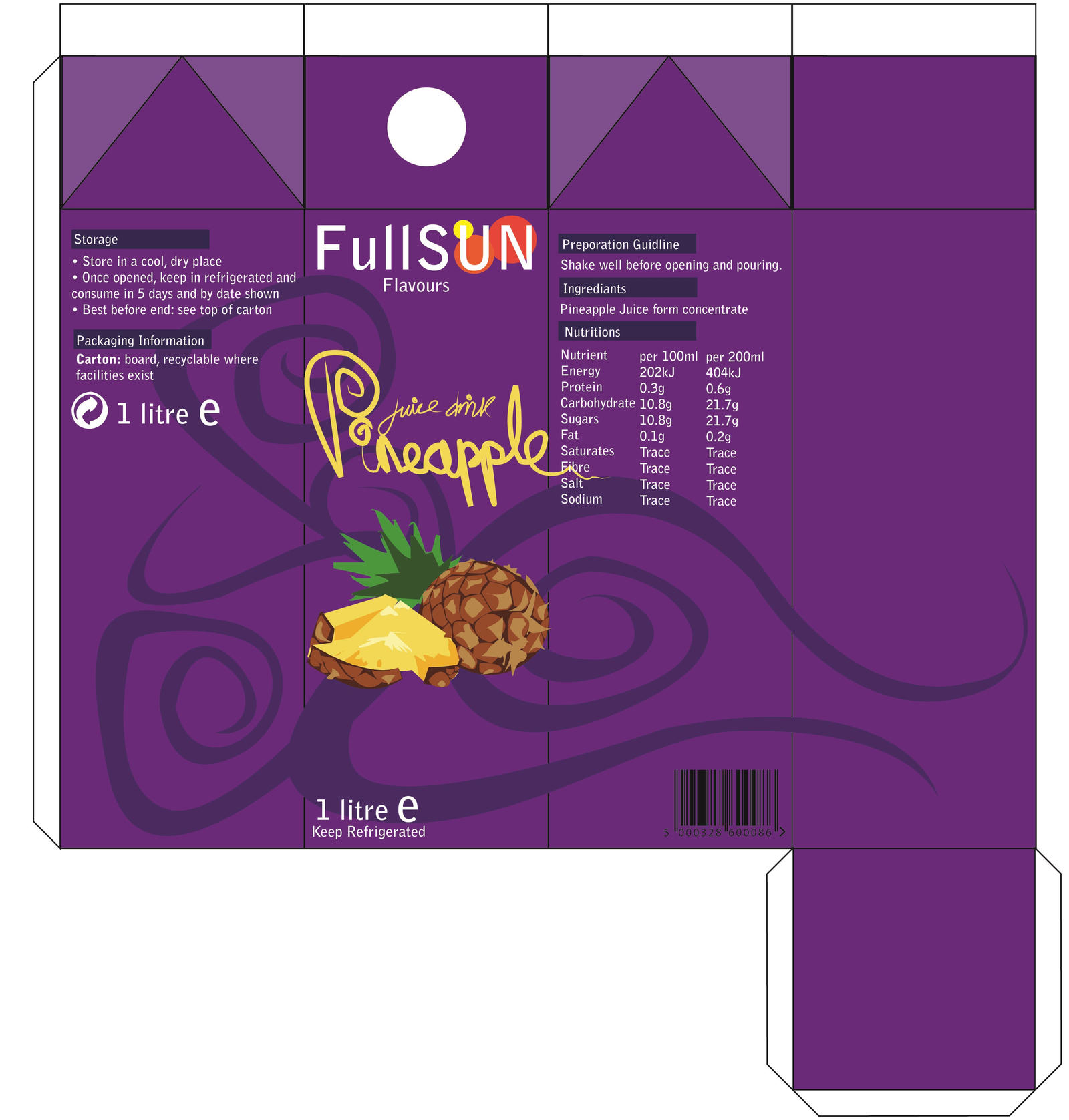 Juice Carton - Pineapple Design by GHussain