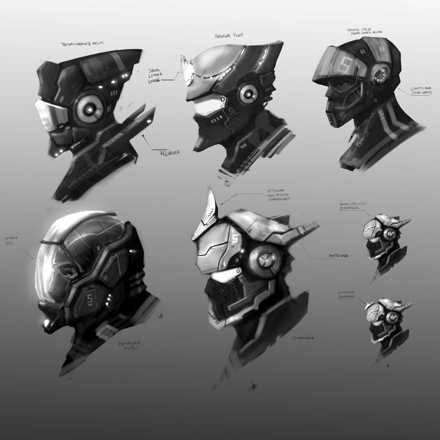 Pilot Helms by Baranha