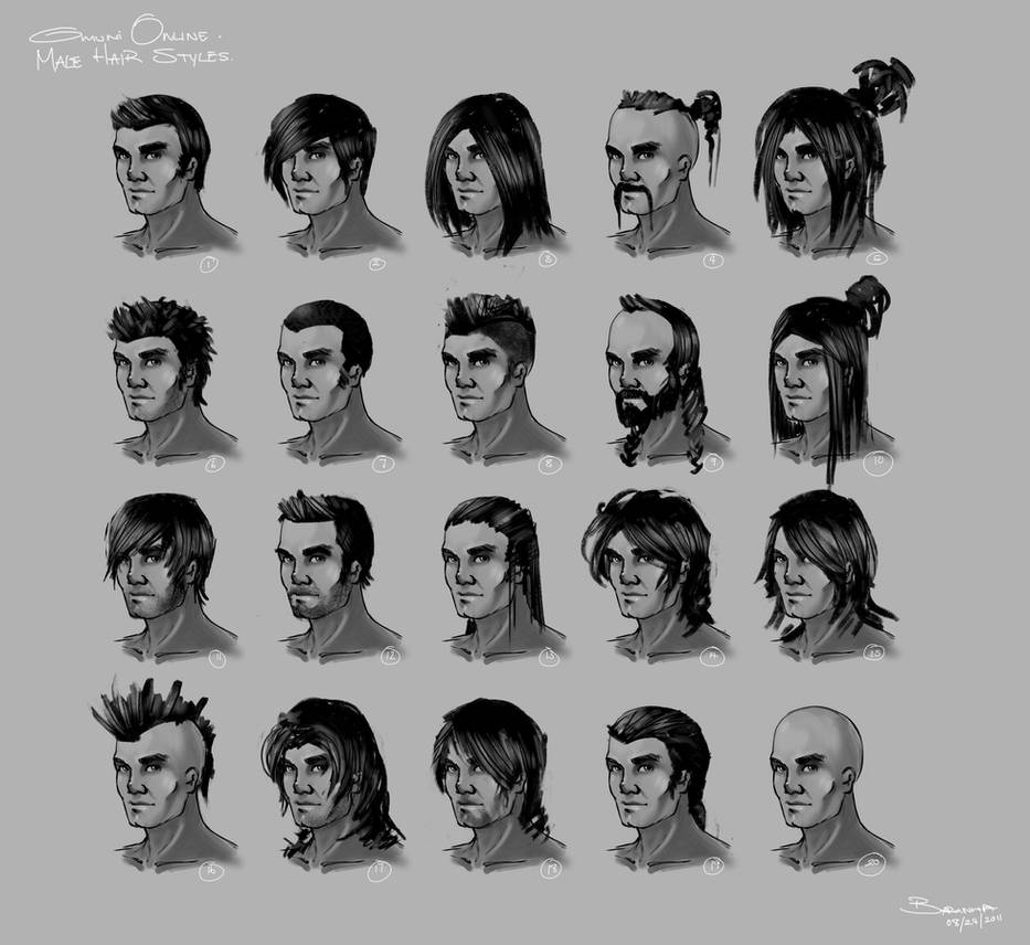 Omuni Online: Male Hairstyles by Baranha on DeviantArt