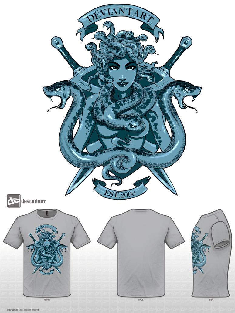 Medusa Crest Shirt Design Full Art by Baranha