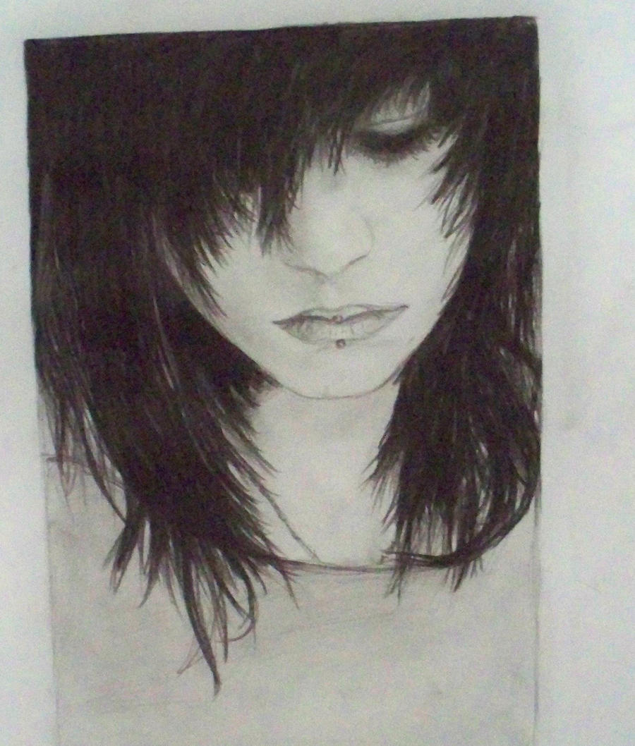 Sad Boy Alone Quotes: Emo Girl Drawing By MiDestini On DeviantArt