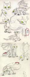 Toothless sketch 30.11. by RuberPhoenix