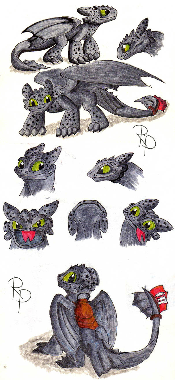 Toothless sketch 13.07.15