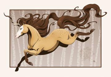 Dappled Buckskin Unicorn