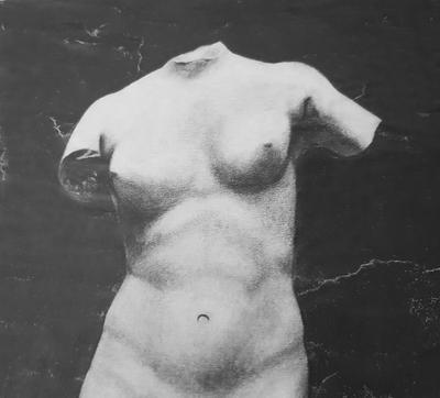 Sculture drawing - Female torso