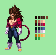 SS4 Vegeta | Dragon Ball Z: Extreme Butoden by MPadillaTheSpriter