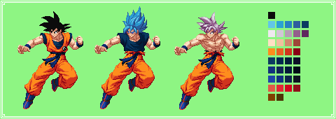 Goku Color Palette | Dragon Ball Super: Broly by MPadillaTheSpriter
