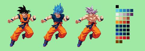 Goku Color Palette | Dragon Ball Super: Broly