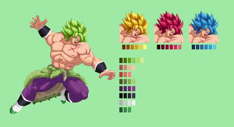 Broly | Dragon Ball Z: Extreme Butoden Sprites by MPadillaTheSpriter