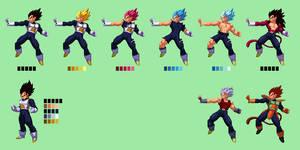 Vegeta   Dragon Ball Z: Extreme Butoden Sprites