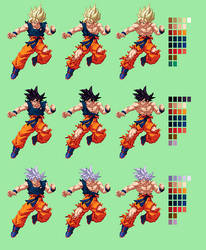Goku Battle Damage Showcase | DBZ: Extreme Butoden