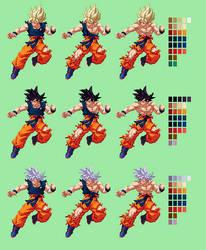 Goku Battle Damage Showcase | DBZ: Extreme Butoden by MPadillaTheSpriter