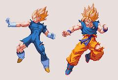 Goku and Vegeta (Classic Coloring) | DBZ: EB