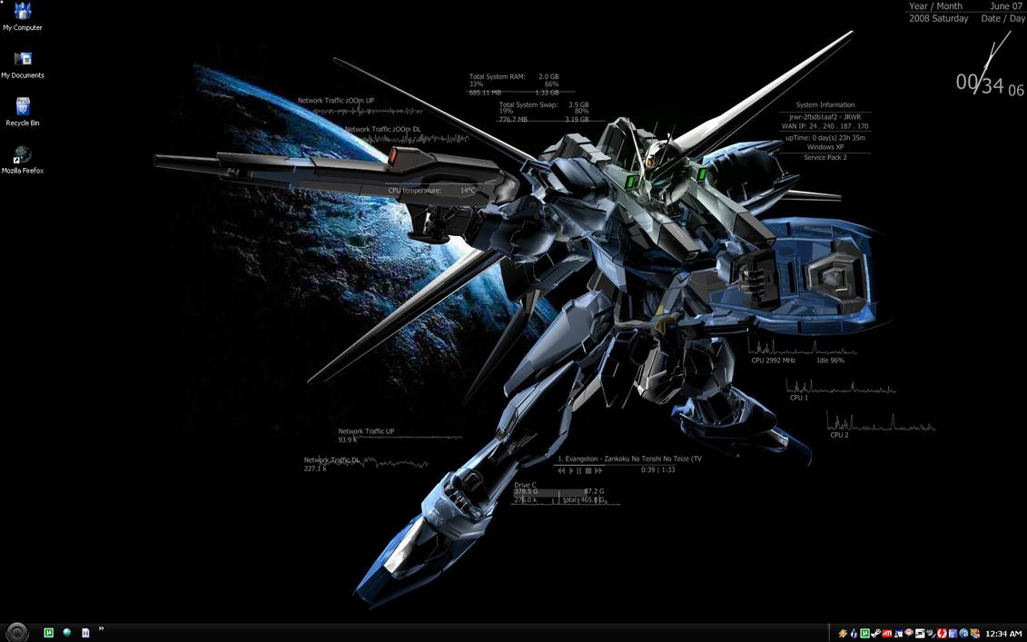 Hd Gundam Themes: Gundam Hud Desktop By Jrwr On DeviantArt