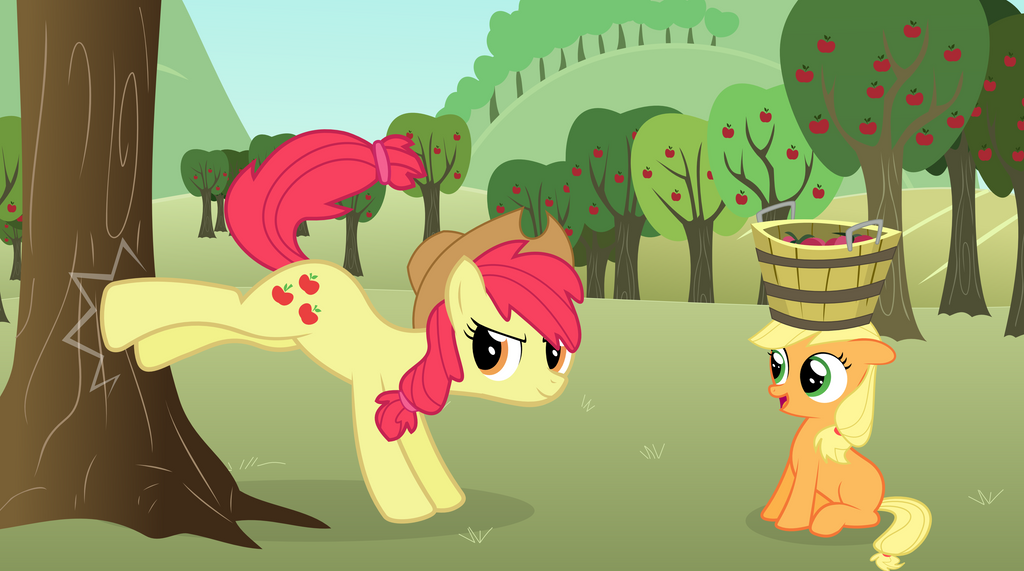 Mane 6 Fillies Applejack As A Filly And Foal