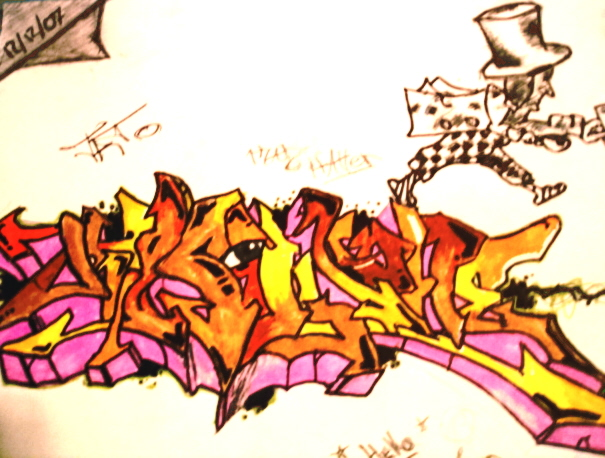 Graffiti Graffiti y mad hatter by