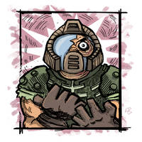 Doomed Doomguy by ShroomArts