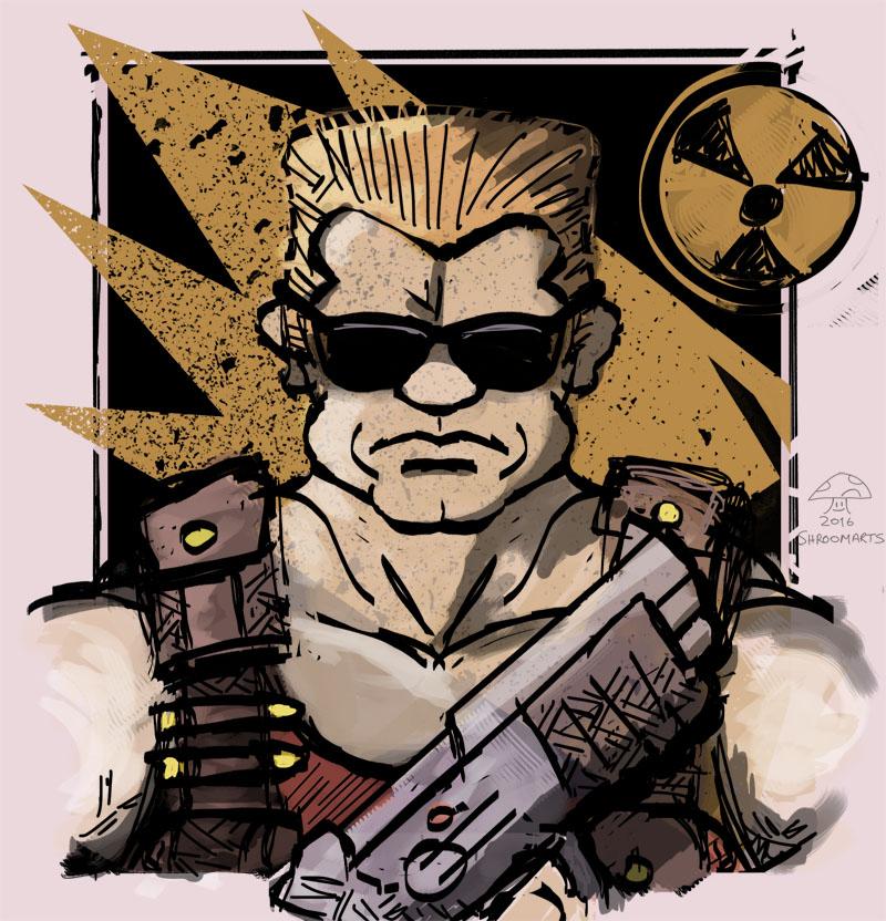 Duke Nukem by ShroomArts